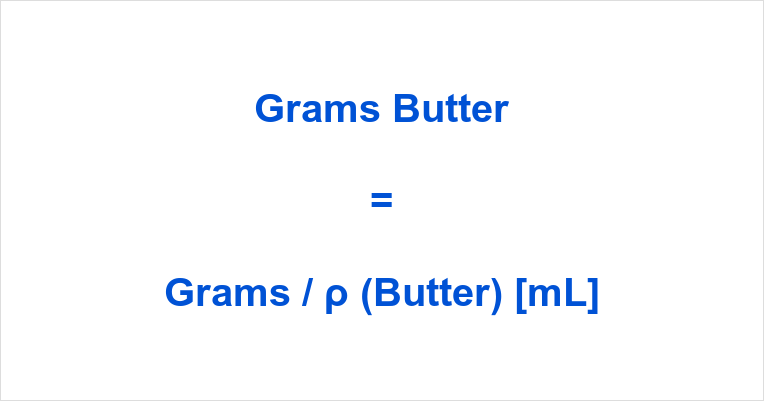 Grams to mL Butter