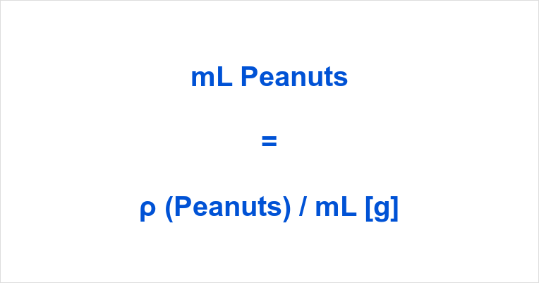 ML to Grams Peanuts