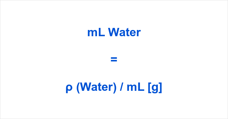 ML to Grams Water